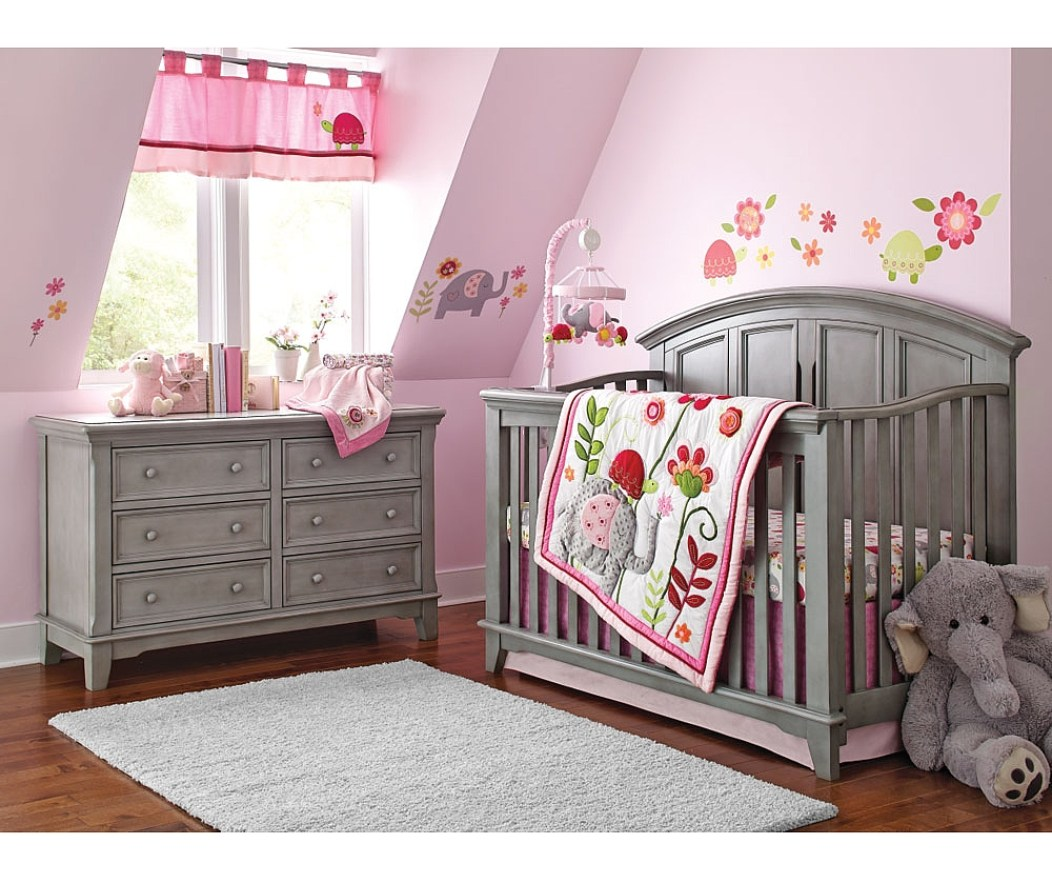 2 Piece Nursery Furniture Set | Changing Table Walmart | Bassett Baby Crib