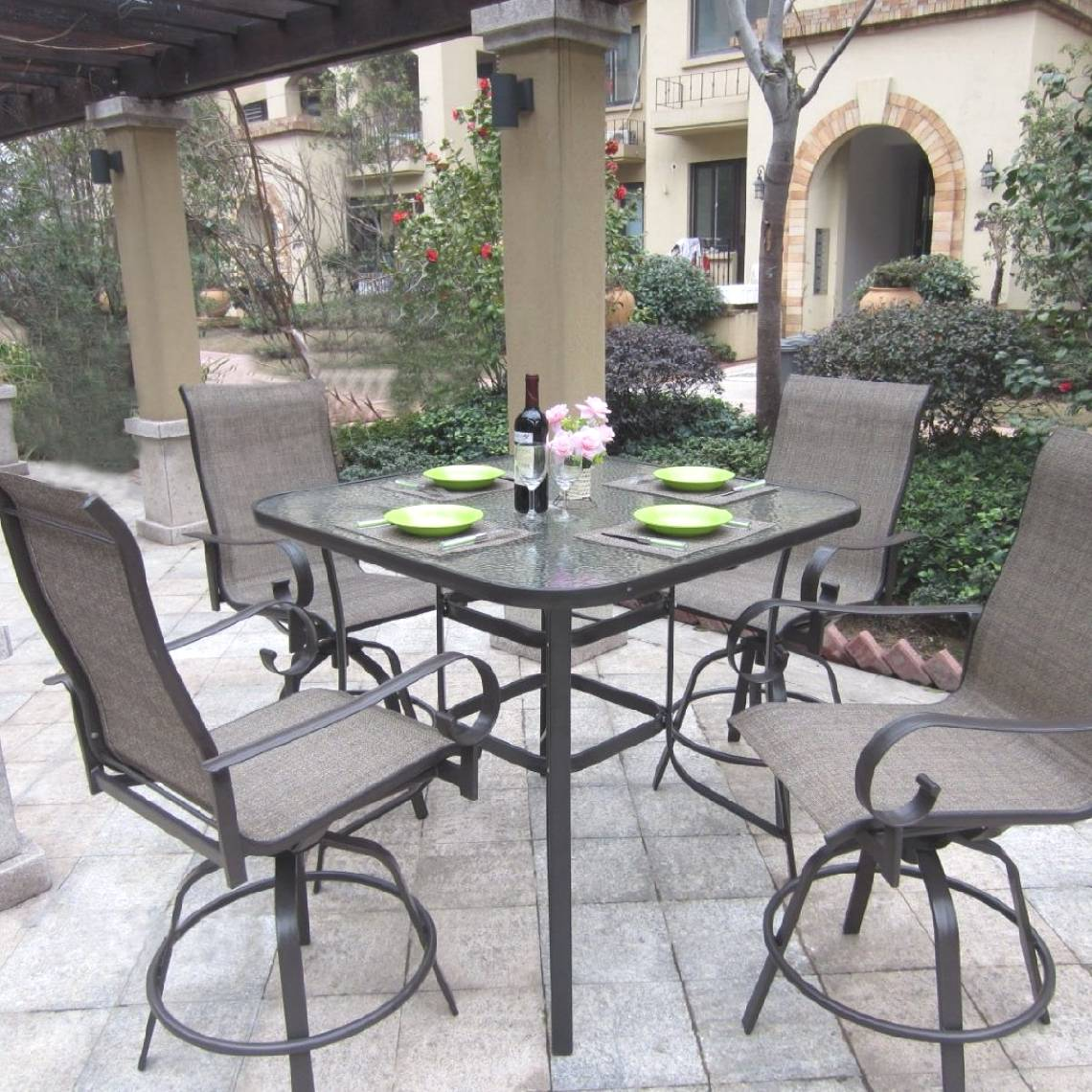 3 Piece Bar Height Patio Set | Bar Height Patio Sets | Wicker Bar Height Patio Set
