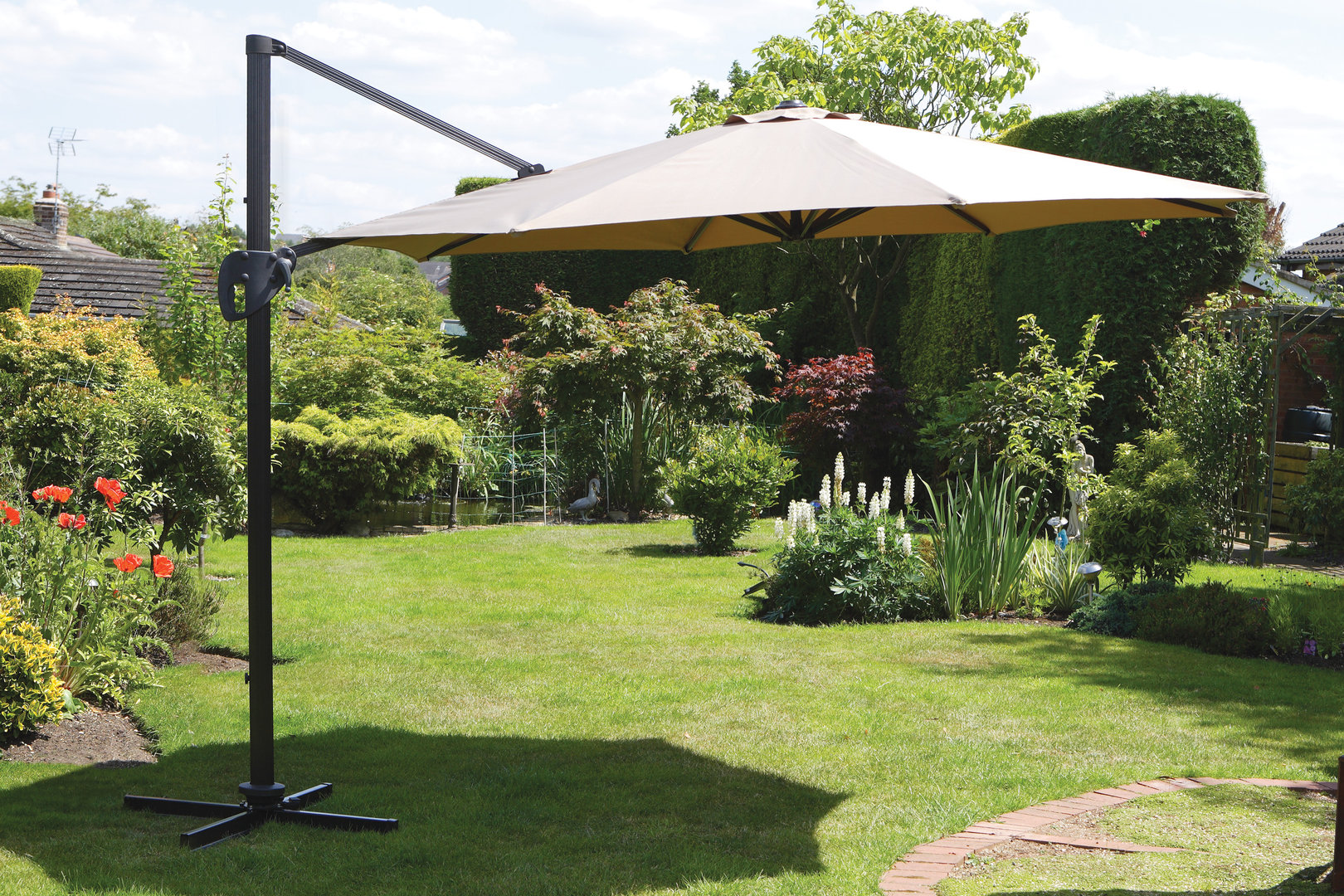 3 Piece Patio Set Under $100 | 10 Ft Offset Umbrella | Costco Offset Umbrella