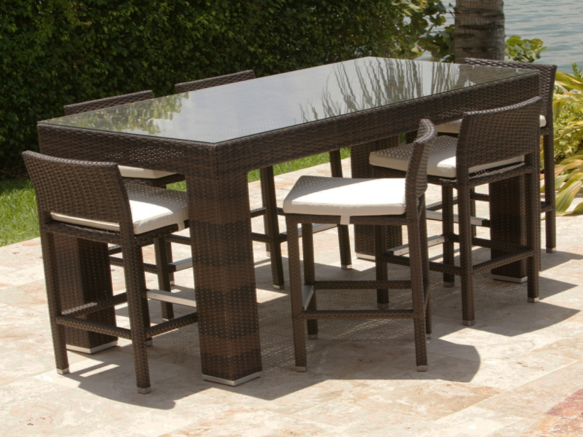 9 Piece Patio Set | Bar Height Patio Sets | Lowes Com Patio Furniture