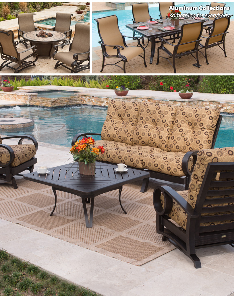 Aluminum Patio Dining Sets Clearance | Outdoor Furniture Delaware | Fortunoff Backyard Store