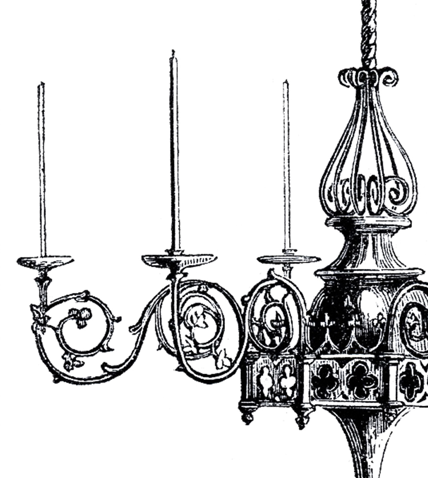 Appealing Wrought Iron Exterior Light Fixtures | Outstanding Gothic Chandelier