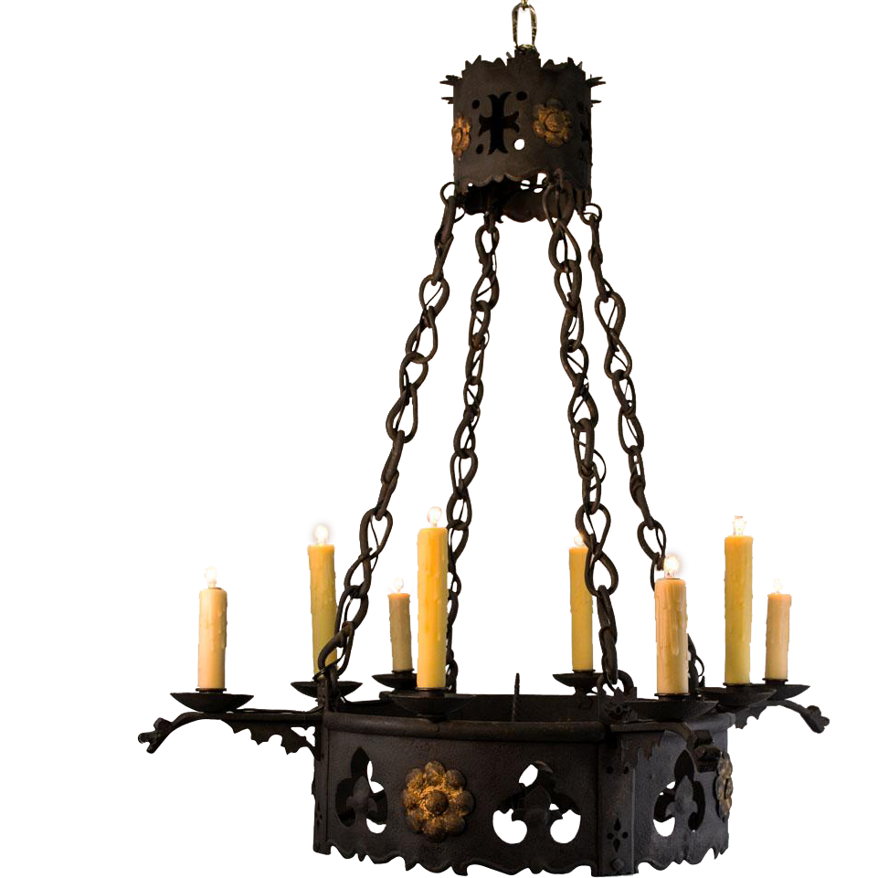 Awesome Gothic Chandelier | Exquisite Hand Forged Wrought Iron