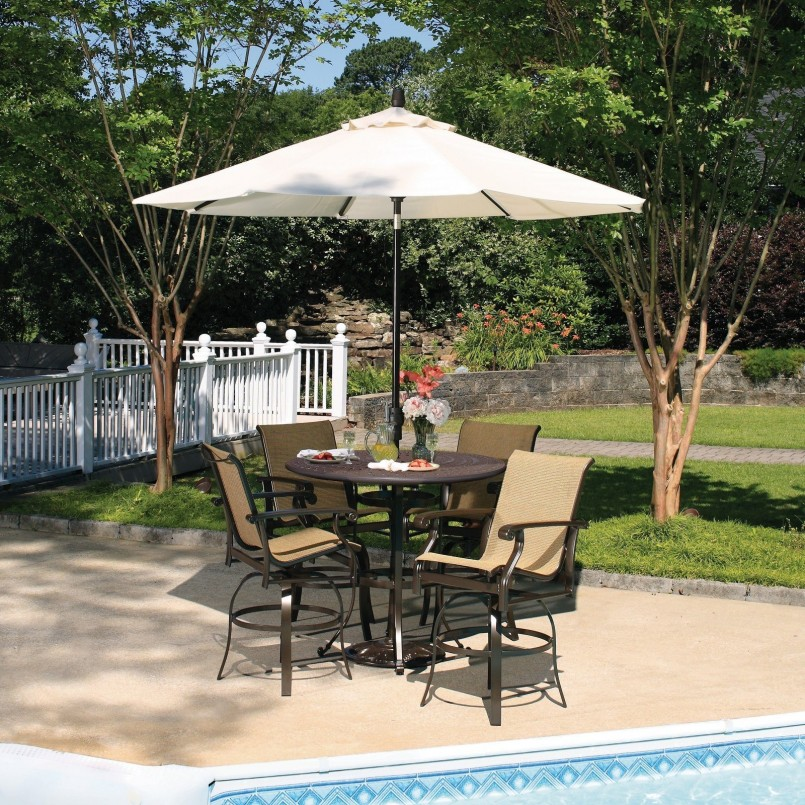 Bar Height Patio Sets | 3 Piece Bar Height Patio Set | Outdoor Bar Height Table And Chairs