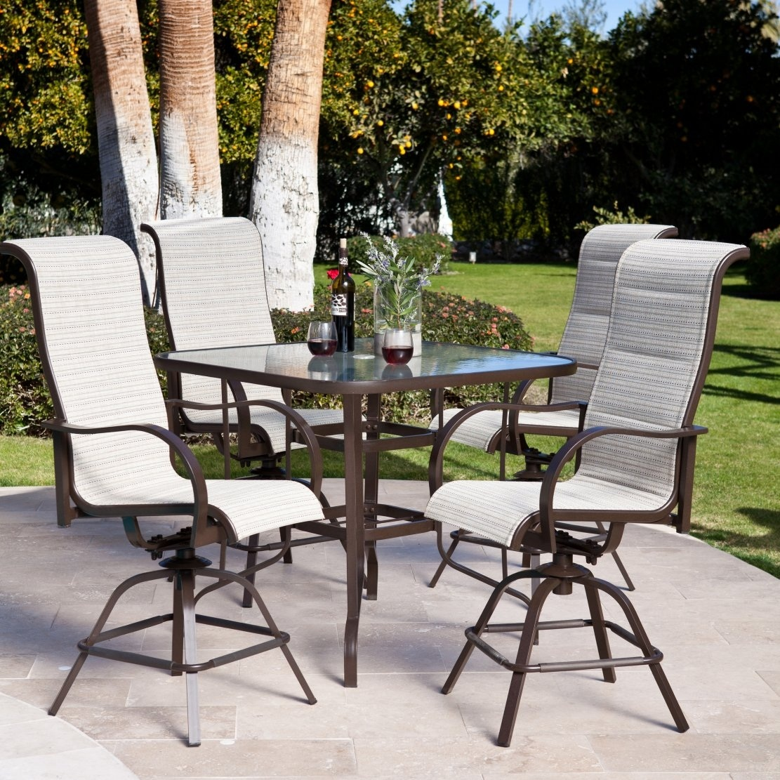 Bar Height Patio Sets | Cast Aluminum Patio Dining Sets | Bar and Stools Set