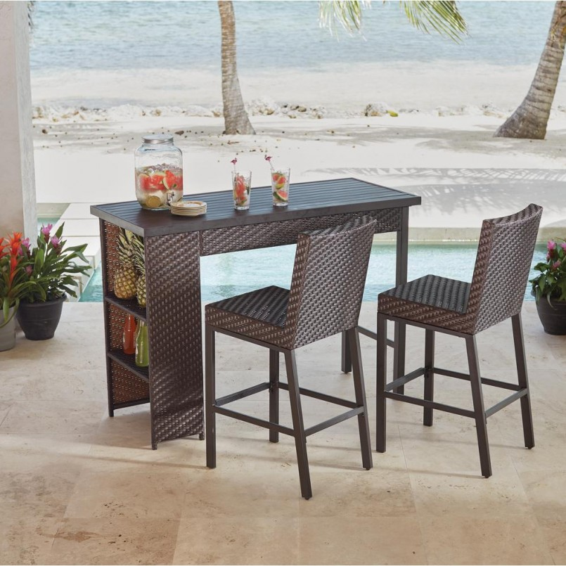 Bar Height Patio Sets | Lowes Outdoor Table And Chairs | 8 Piece Patio Set