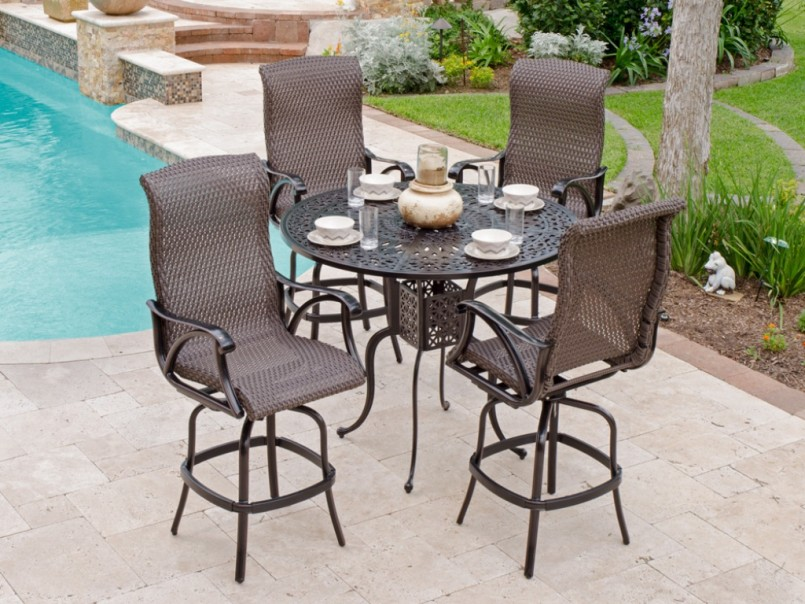 Bar Height Patio Sets | Outdoor Bar Stools Costco | 5 Piece Bar Height Patio Set