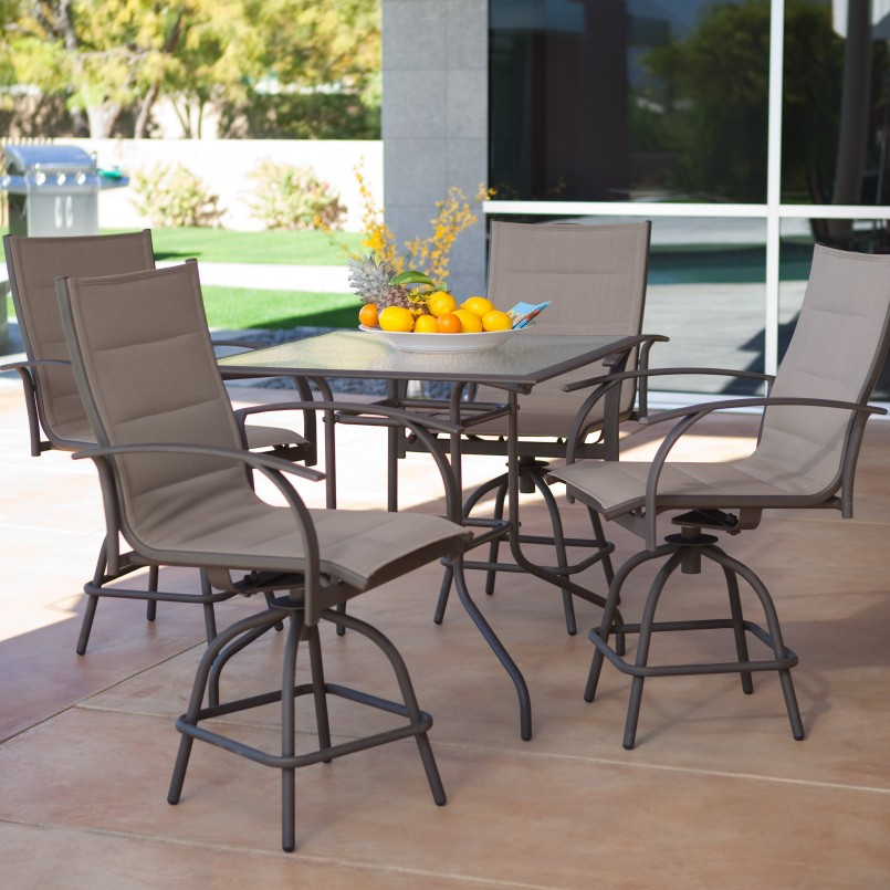Bar Height Patio Sets | Square Patio Dining Table | Patio Bar Sets Clearance