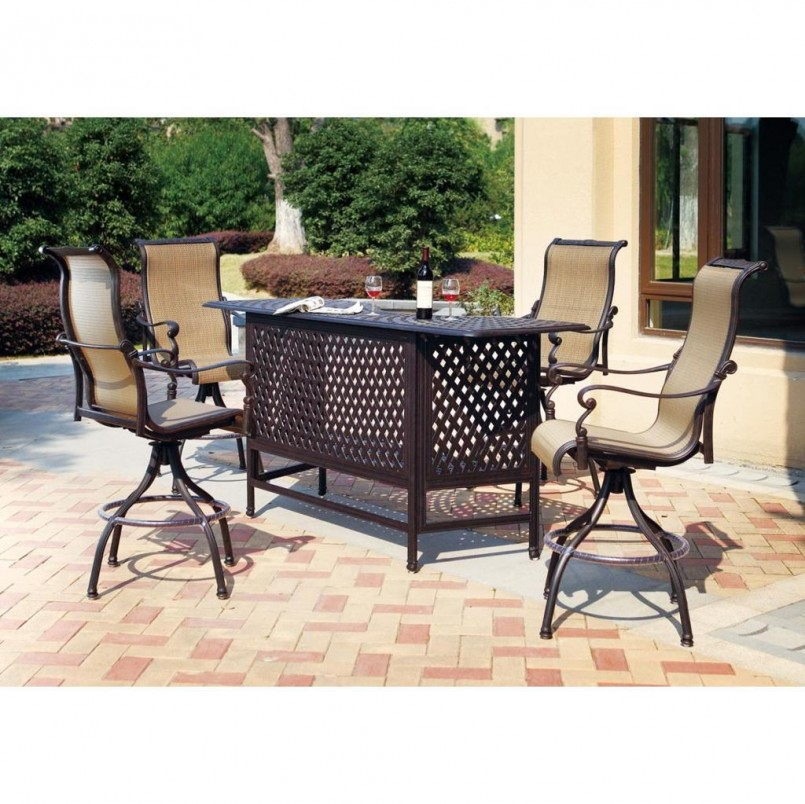 Bar Height Patio Sets | Wrought Iron Bistro Chairs | Cast Aluminum Patio Dining Sets