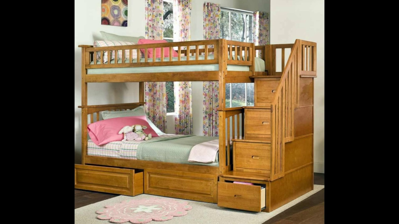 Bunk Bed with Stairs Plans | Bunk Beds for Small Rooms | Bunk Bed with Play Area