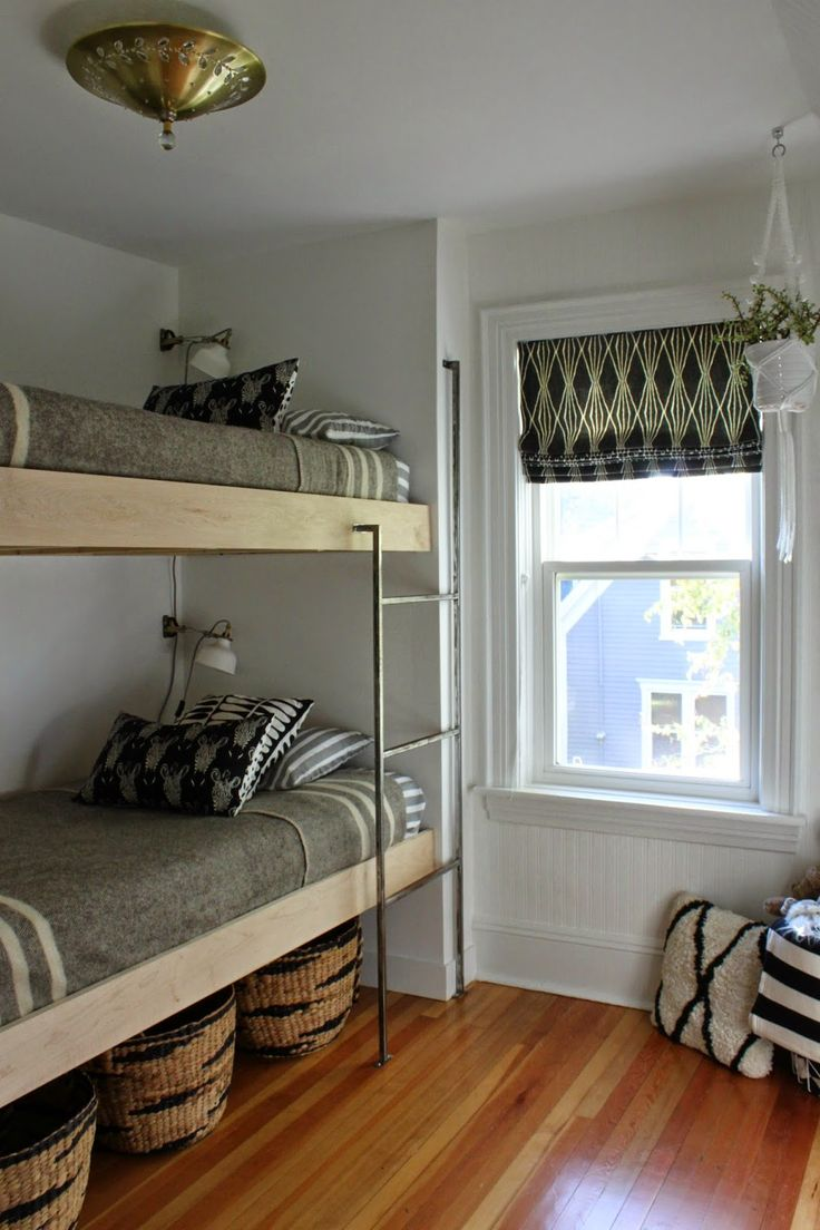 Bunk Bed with Stairs Plans | Loft Beds for Low Ceiling Rooms | Bunk Beds for Small Rooms