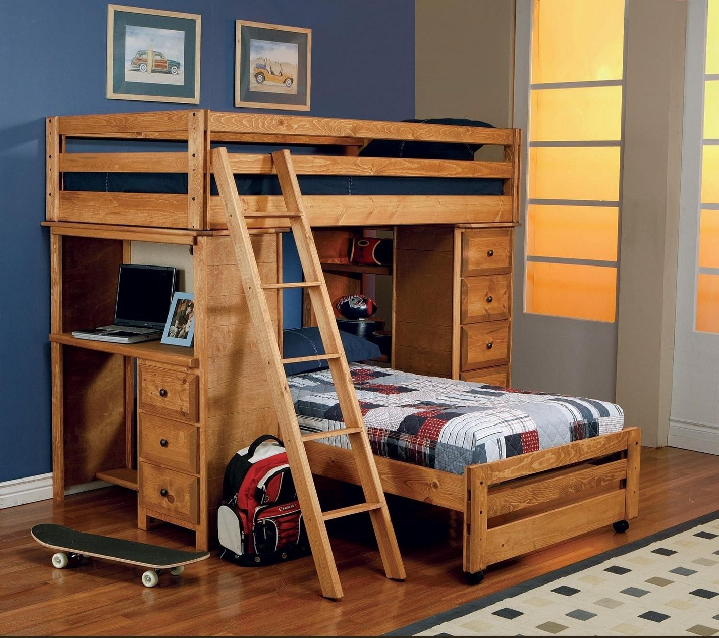 Bunk Beds for Small Rooms | Bunk Bed Building Plans | Loft Bed with Slide Plans