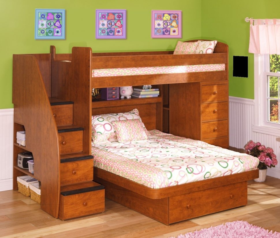 Bunk Beds for Small Rooms | Bunk Bed with Closet Underneath | Bunk Bed with Stairs Plans