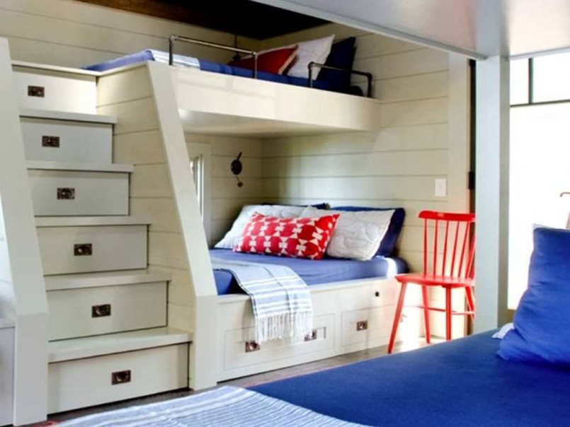 Bunk Beds For Small Rooms | Bunk Room Plans | Loft Bed Adult