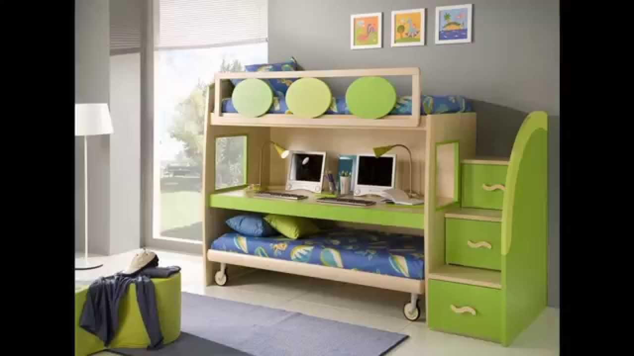 Bunk Beds for Small Rooms with Colorful Themes: Bunk Beds For Small Rooms | Creative Bunk Bed Ideas | Loft Beds For Low Ceiling Rooms