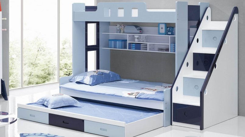 Bunk Beds For Small Rooms | Double Deck Bed With Cabinet | Bunk Beds For Teenagers