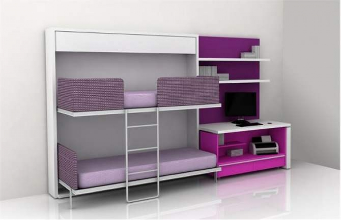 Bunk Beds for Small Rooms | Futuristic Bunk Beds | Loft Beds for Low Ceiling Rooms
