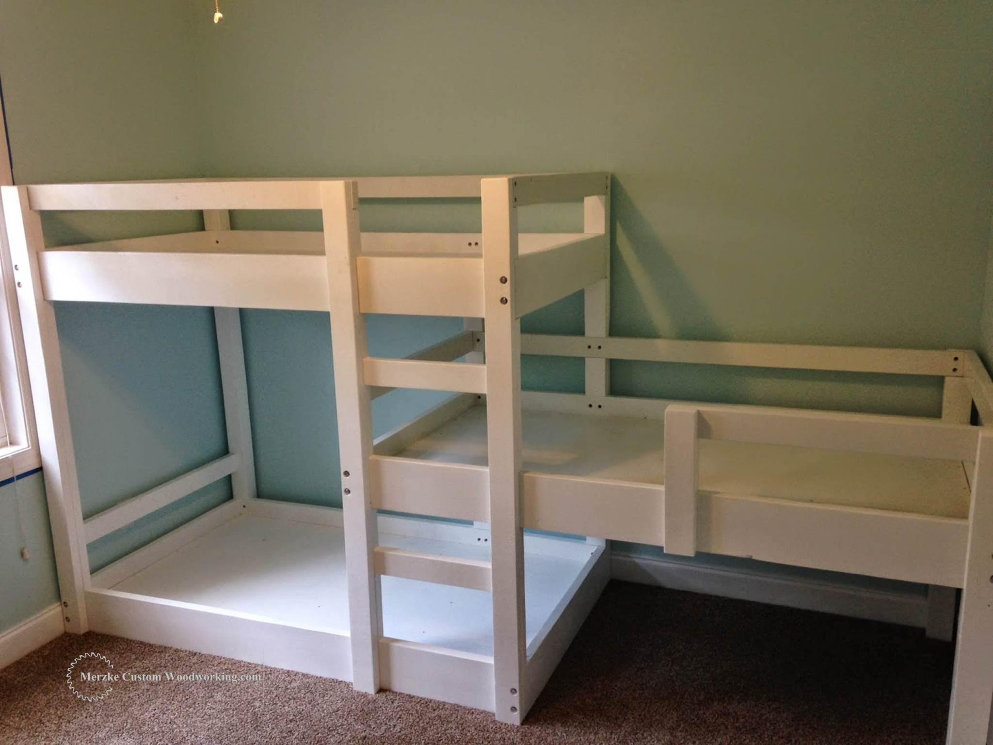 Bunk Room Plans | Bunk Beds for Small Rooms | Double Deck Bed with Cabinet