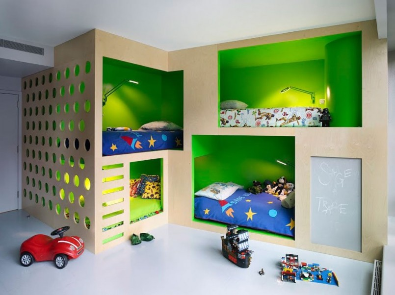 Bunk Room Plans | Bunk Beds For Small Rooms | Twin Bed Space Saver