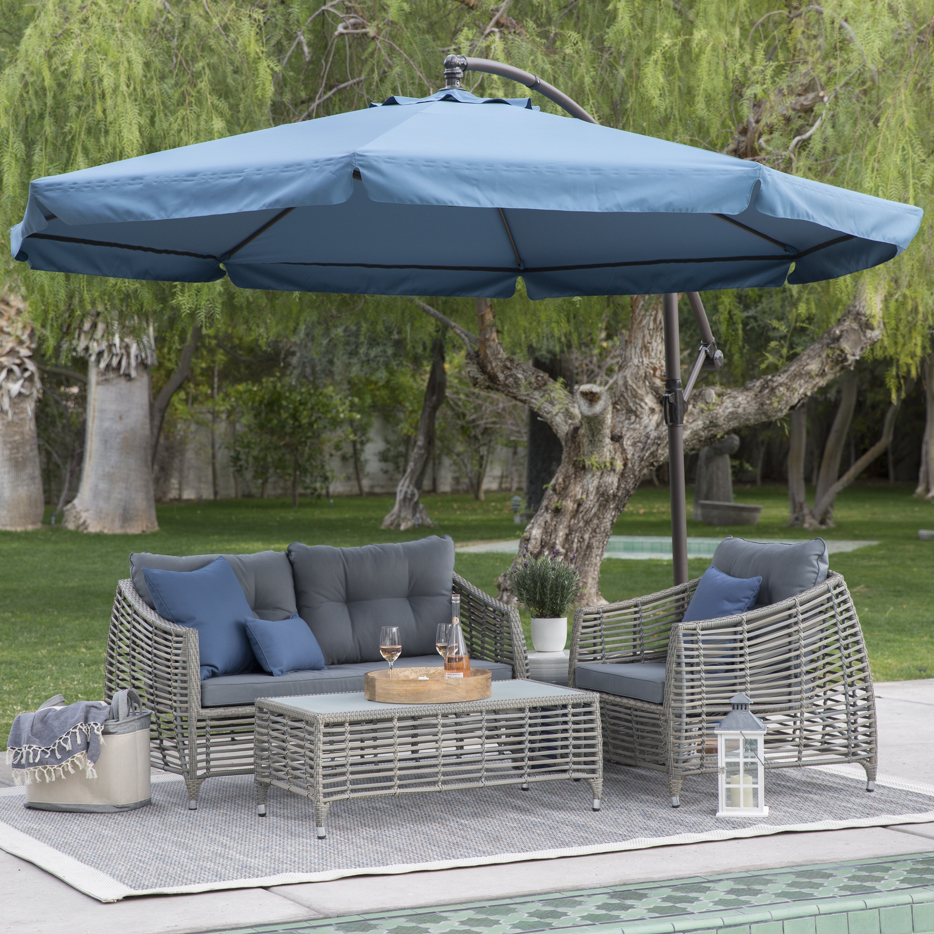 Cantilever Patio Umbrellas | Gas Fire Pit Tables Costco | Costco Offset Umbrella
