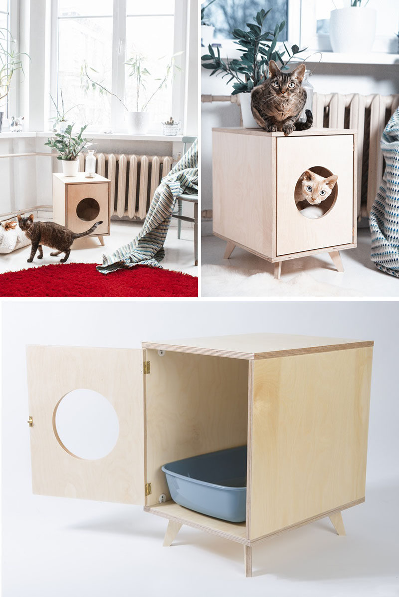 Cat Furniture Litter Box | Hidden Cat Litter Box | Diy Litter Box Furniture
