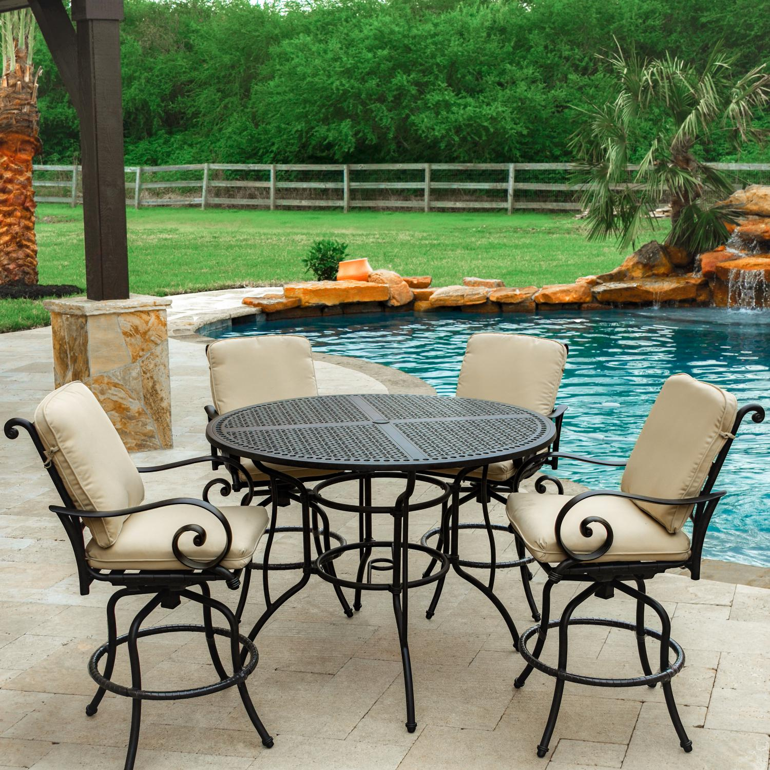 Furniture enjoy your new outdoor furniture with bar for Small patio sets on sale