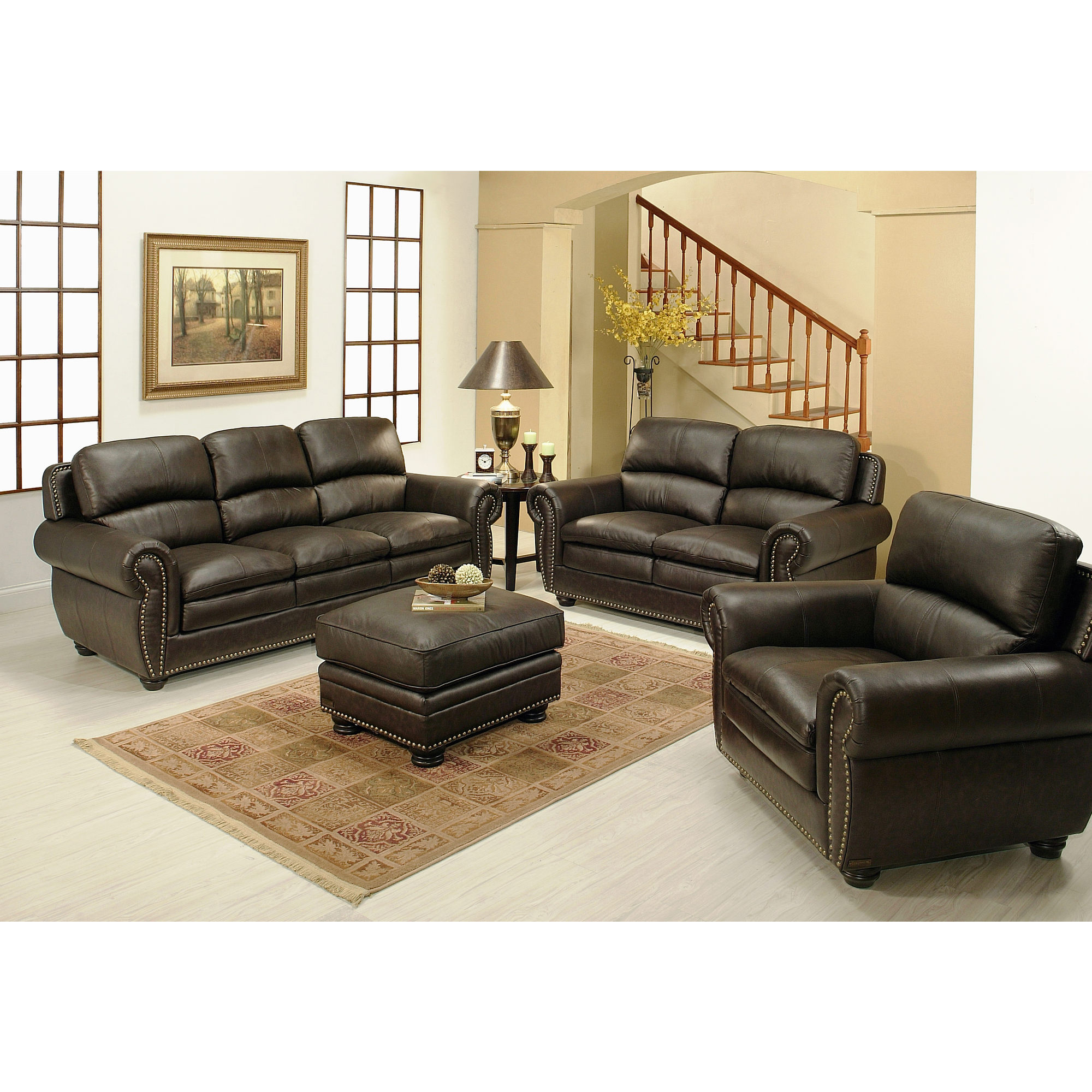 Cheap Leather Sectionals | Costco Leather Sectional | Genuine Leather Sectional with Chaise