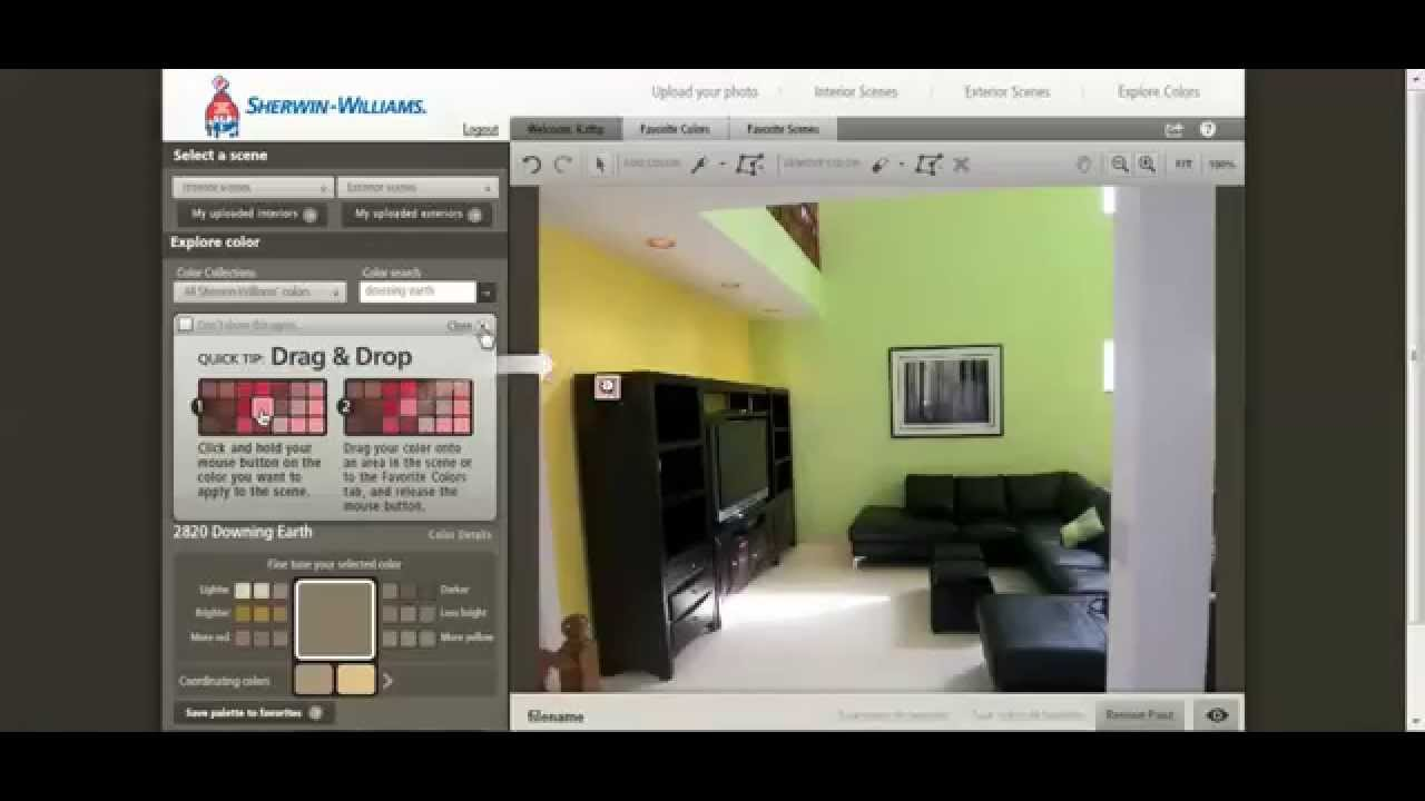 Color Visualizer | Sherwin Williams Visualizer | Paint Color Room Visualizer