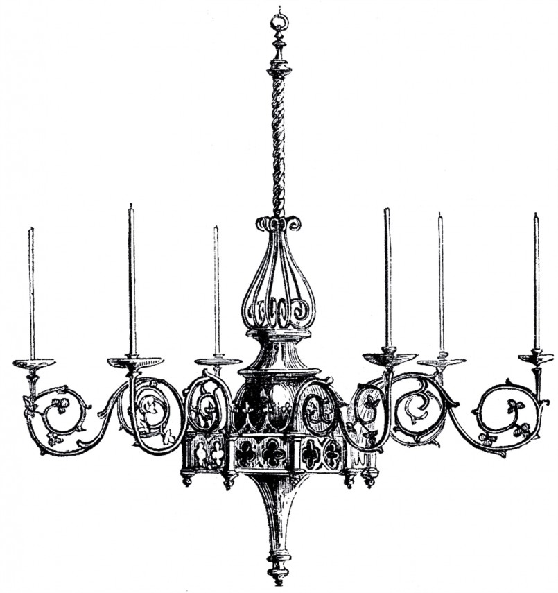 Comfy Gothic Chandelier | Cool Wrought Iron Outdoor Lighting