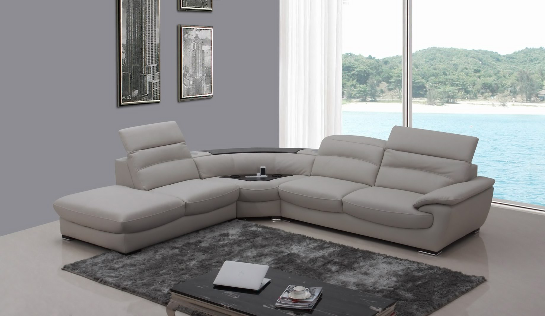 Costco Leather Sectional | Double Chaise Sectional | Pulaski Couch