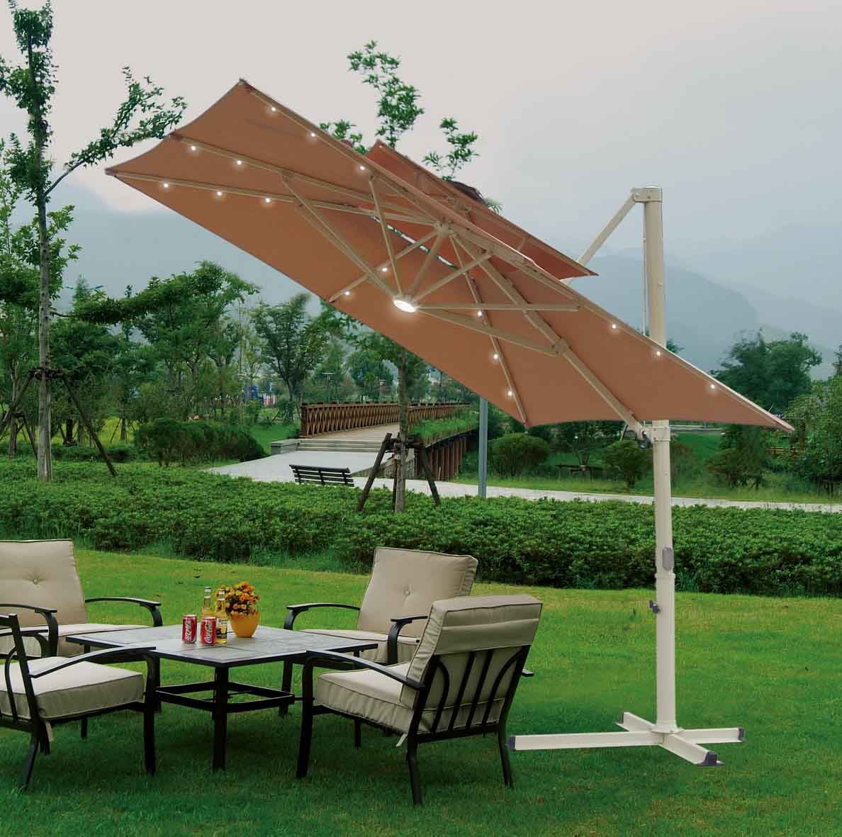 Costco Offset Umbrella | Offset Patio Umbrellas | Picnic Table Umbrella
