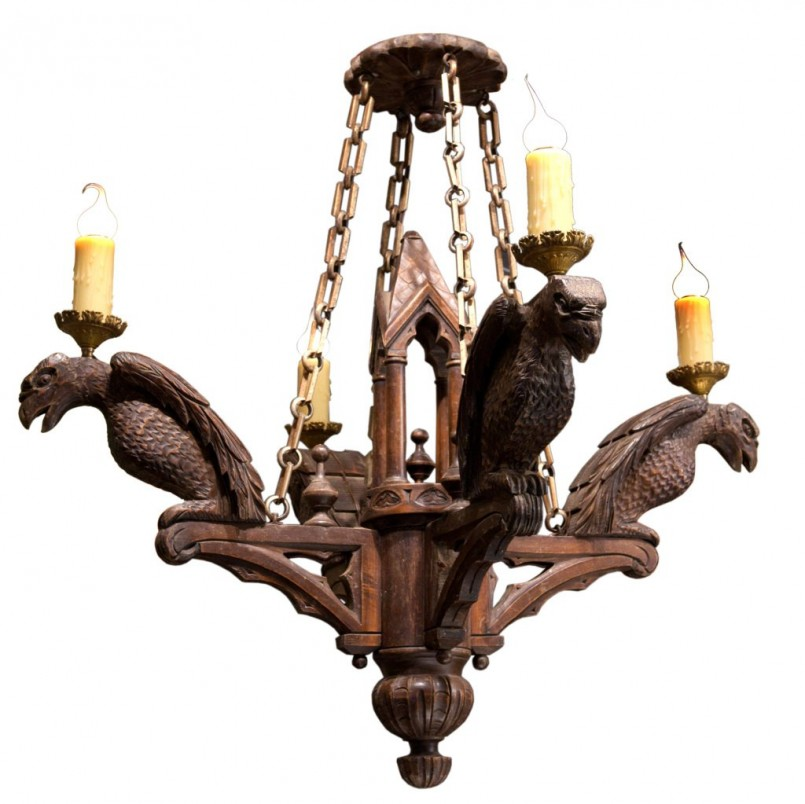 Cozy Hand Forged Light Fixtures | Dazzling Gothic Chandelier Style
