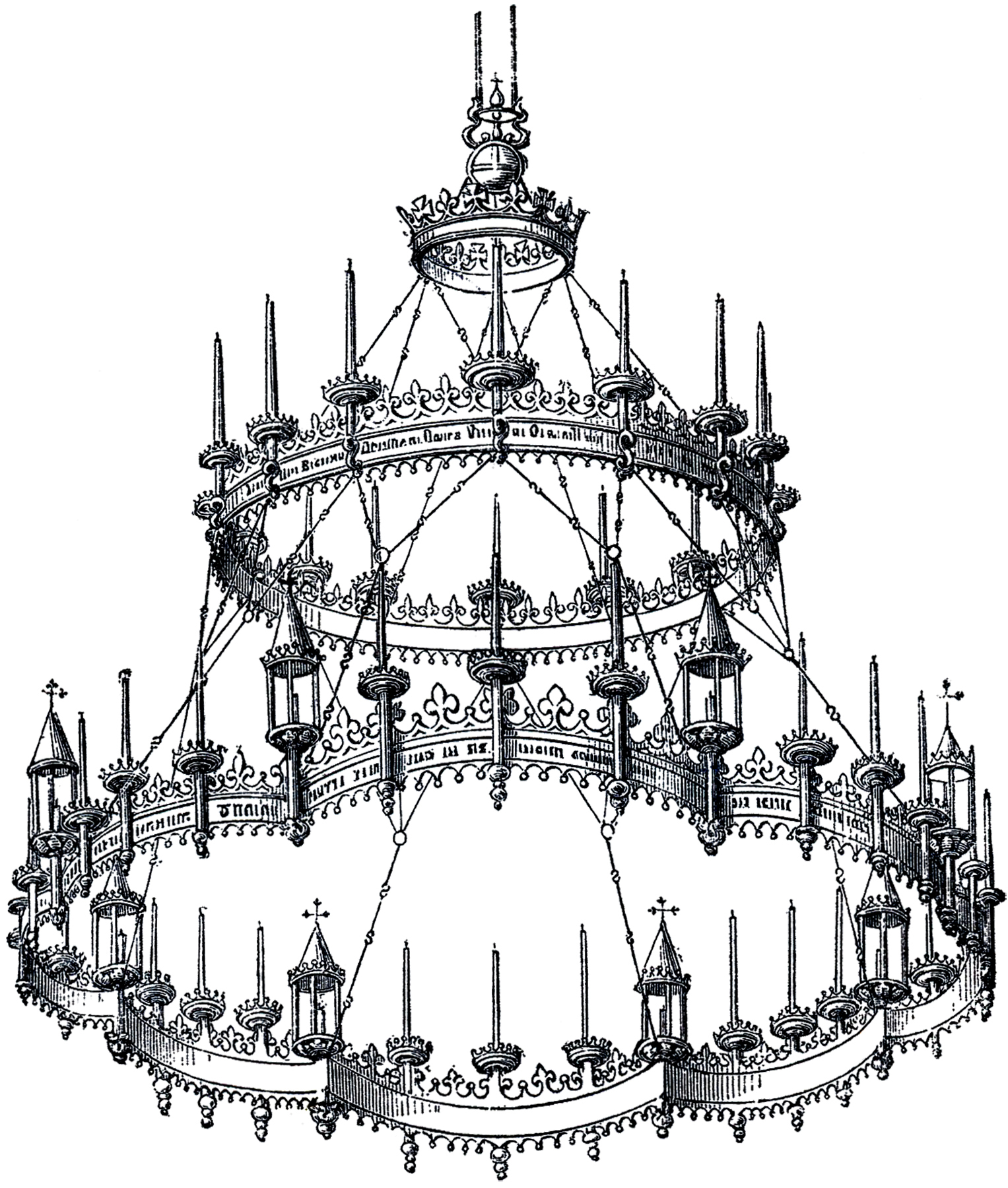 Creative Gothic Chandelier | Attractive Mexican Iron Chandeliers