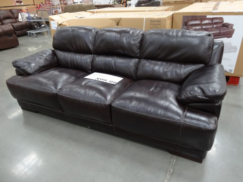Deep Seated Sectional Couches | Camel Color Leather Couch | Costco Leather Sectional