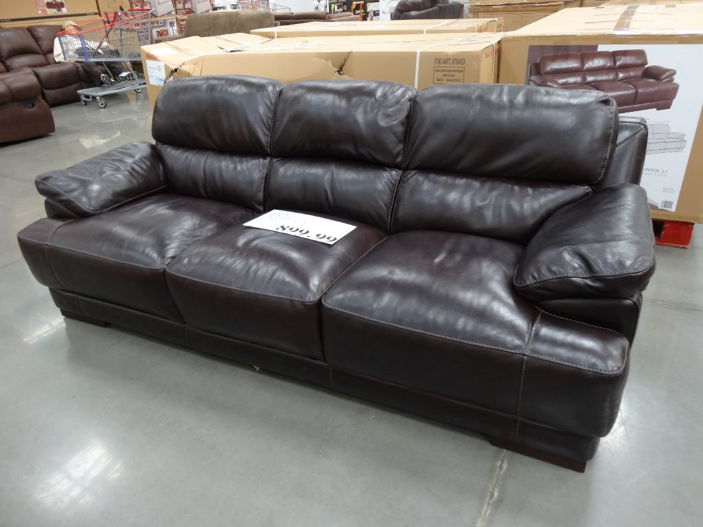 Gentil Deep Seated Sectional Couches | Camel Color Leather Couch | Costco Leather  Sectional