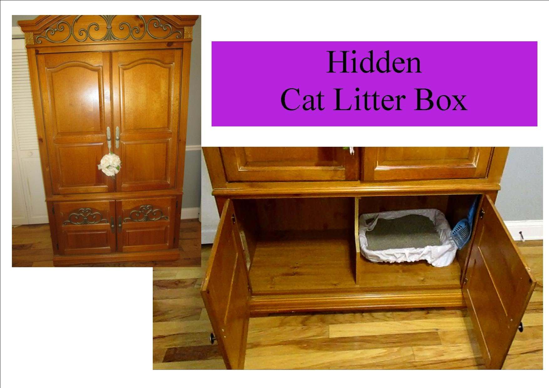 Designer Cat Litter Box | Fancy Litter Boxes | Hidden Cat Litter Box