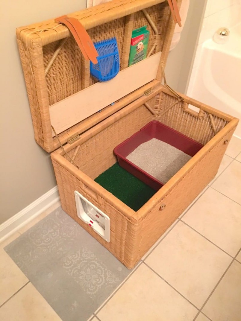 Discreet Litter Box | Litterbox Furniture | Hidden Cat Litter Box