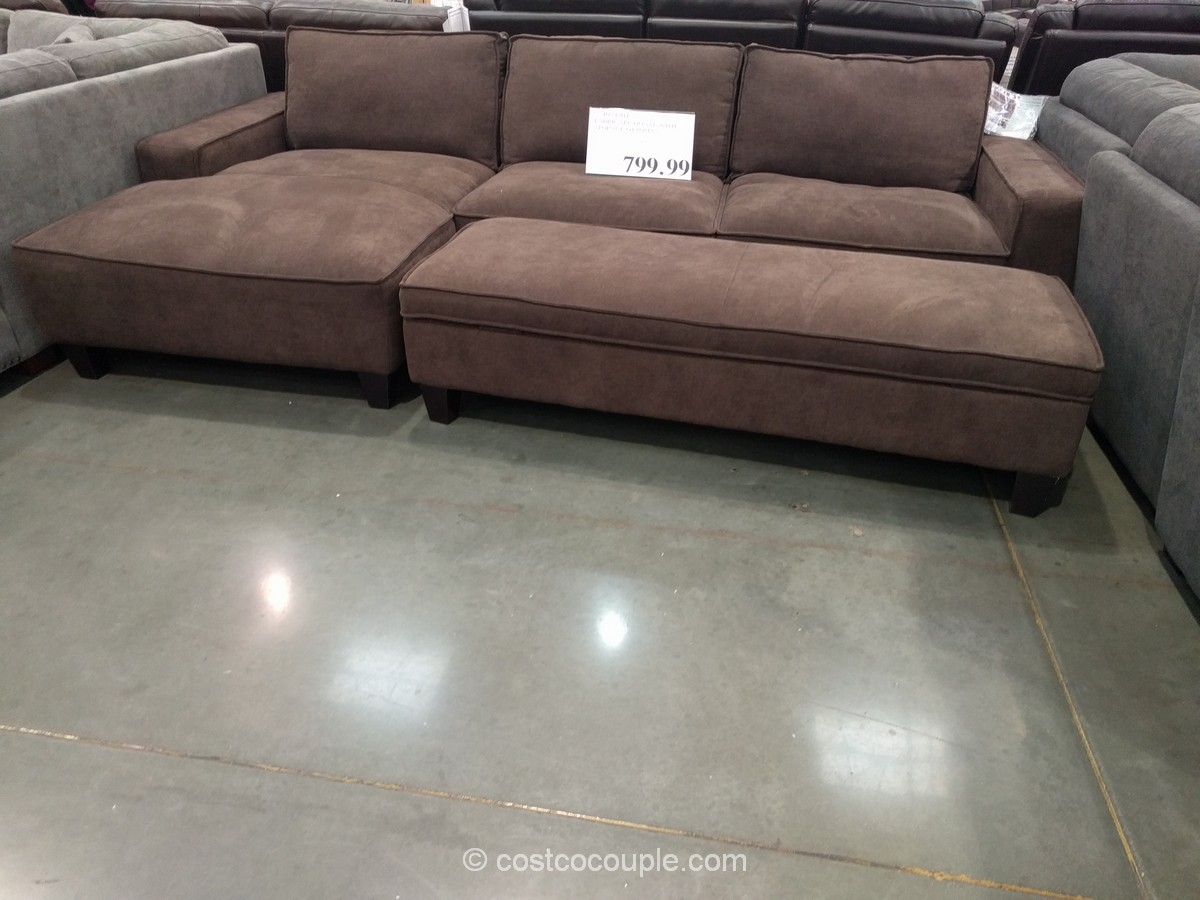 Furniture Stunning Home Furniture With Cool Costco Leather  ~ Double Chaise Sofa Lounger