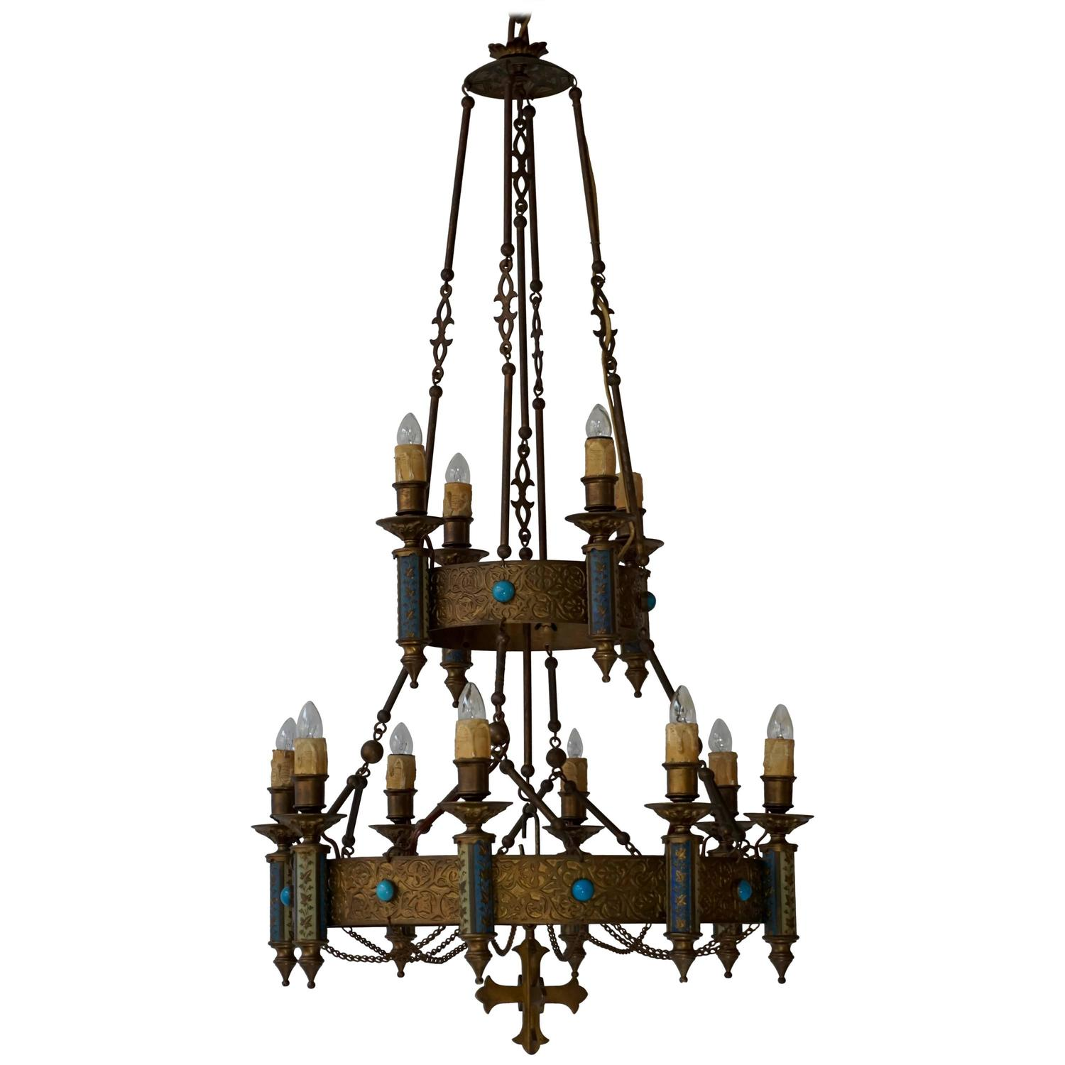 Engaging Gothic Chandelier | Best Italian Wrought Iron Chandeliers