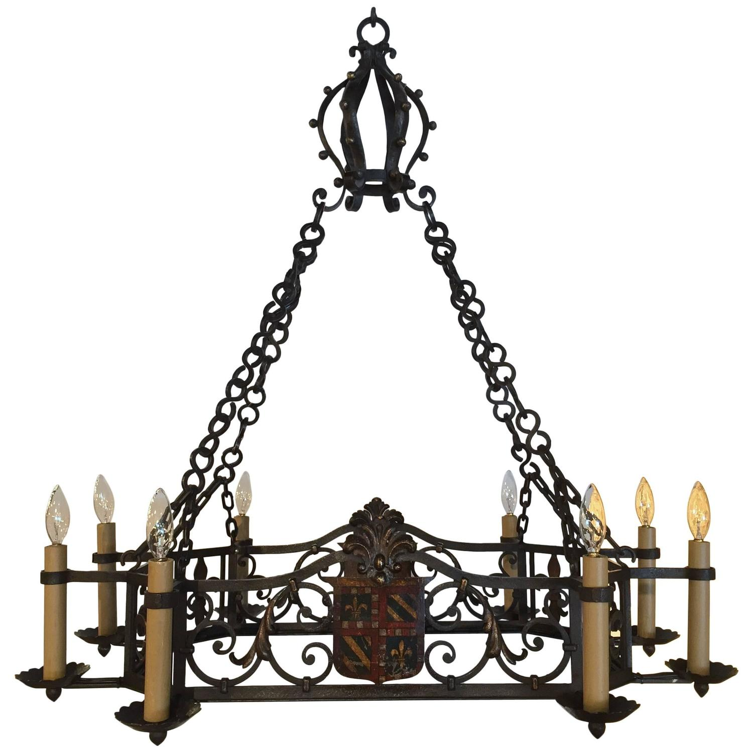 Engaging Wrought Iron Exterior Light Fixtures Style | Outstanding Gothic Chandelier Designs