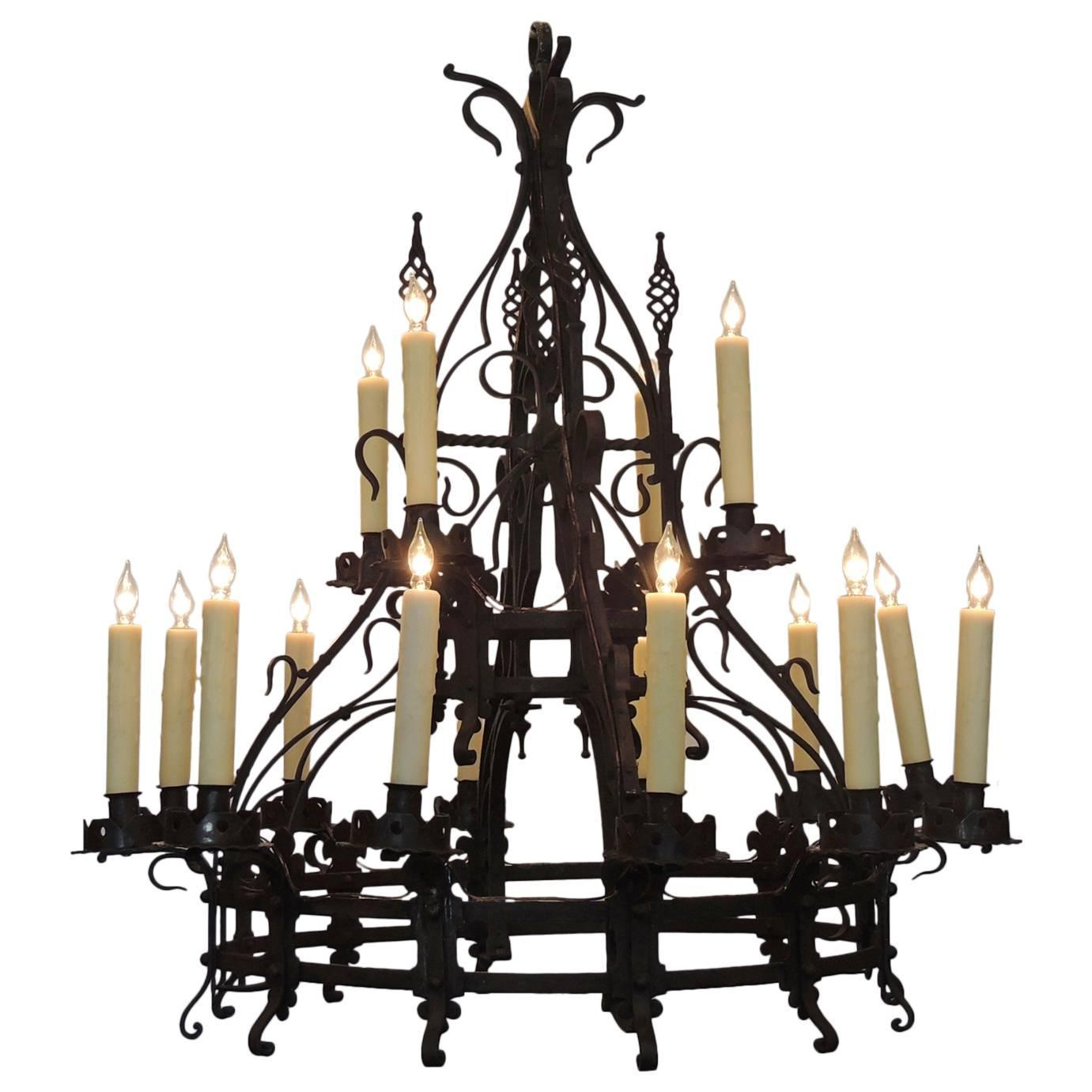 Enticing Gothic Chandelier Designs | Astounding Mexican Wrought Iron Light Fixtures