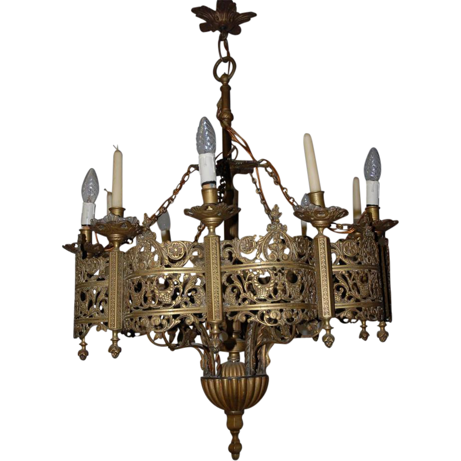Excellent Forged Iron Light Fixtures | Stunning Gothic Chandelier - Lighting: Glamour Gothic Chandelier With Unique And Antique Design