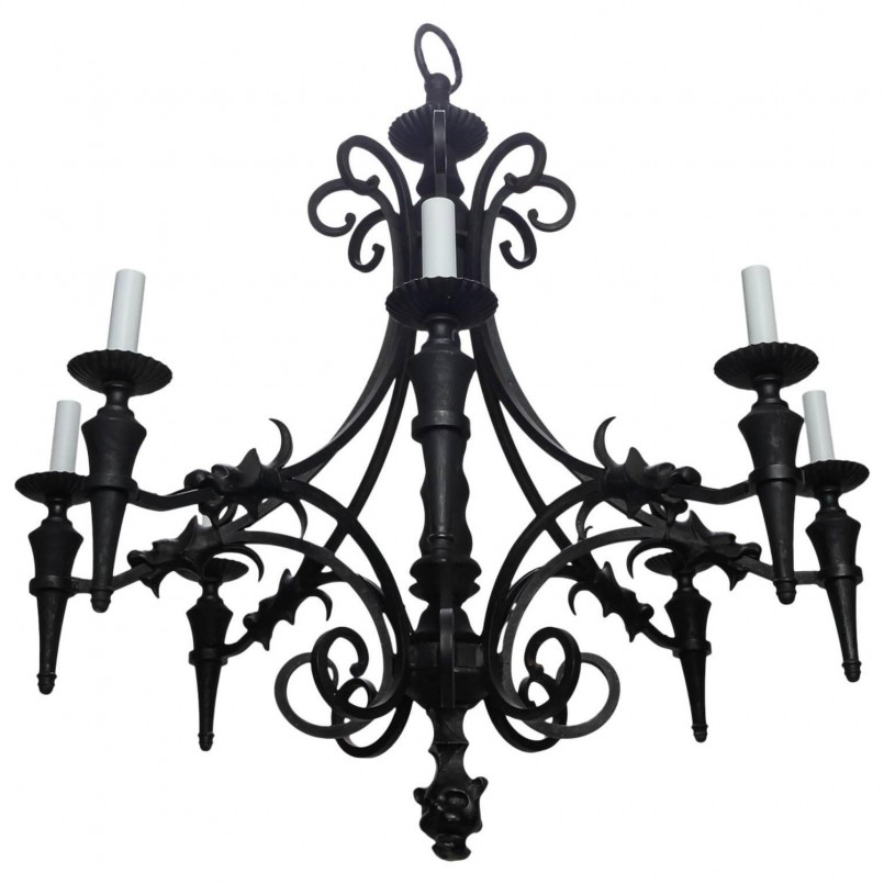 Excellent Gothic Chandelier Design | Comfy Wrought Iron Outside Lights