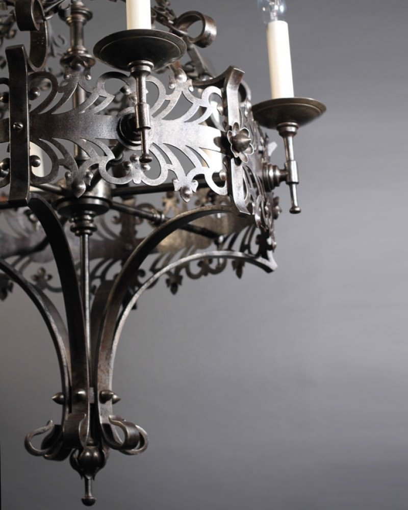 Excellent Gothic Chandelier | Fascinating Hand Forged Wall Sconces