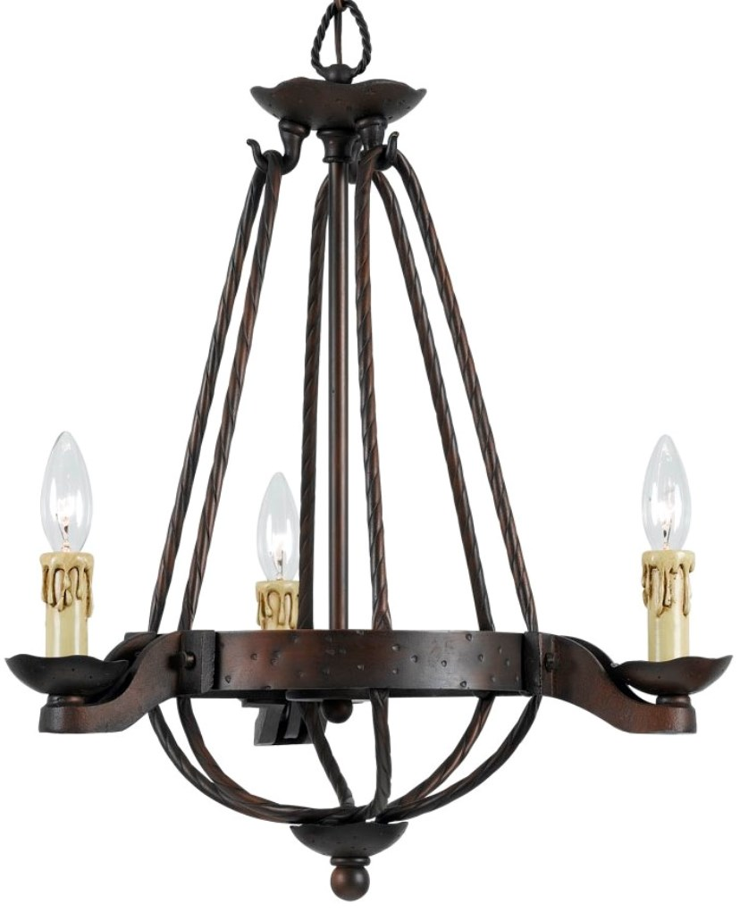 Fancy Gothic Chandelier | Appealing Italian Wrought Iron Chandeliers