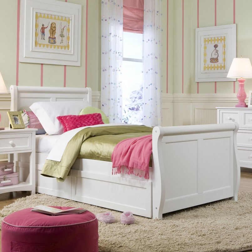 Full Size Upholstered Beds | Pottery Barn Sleigh Bed | Pottery Barn Tufted Headboard