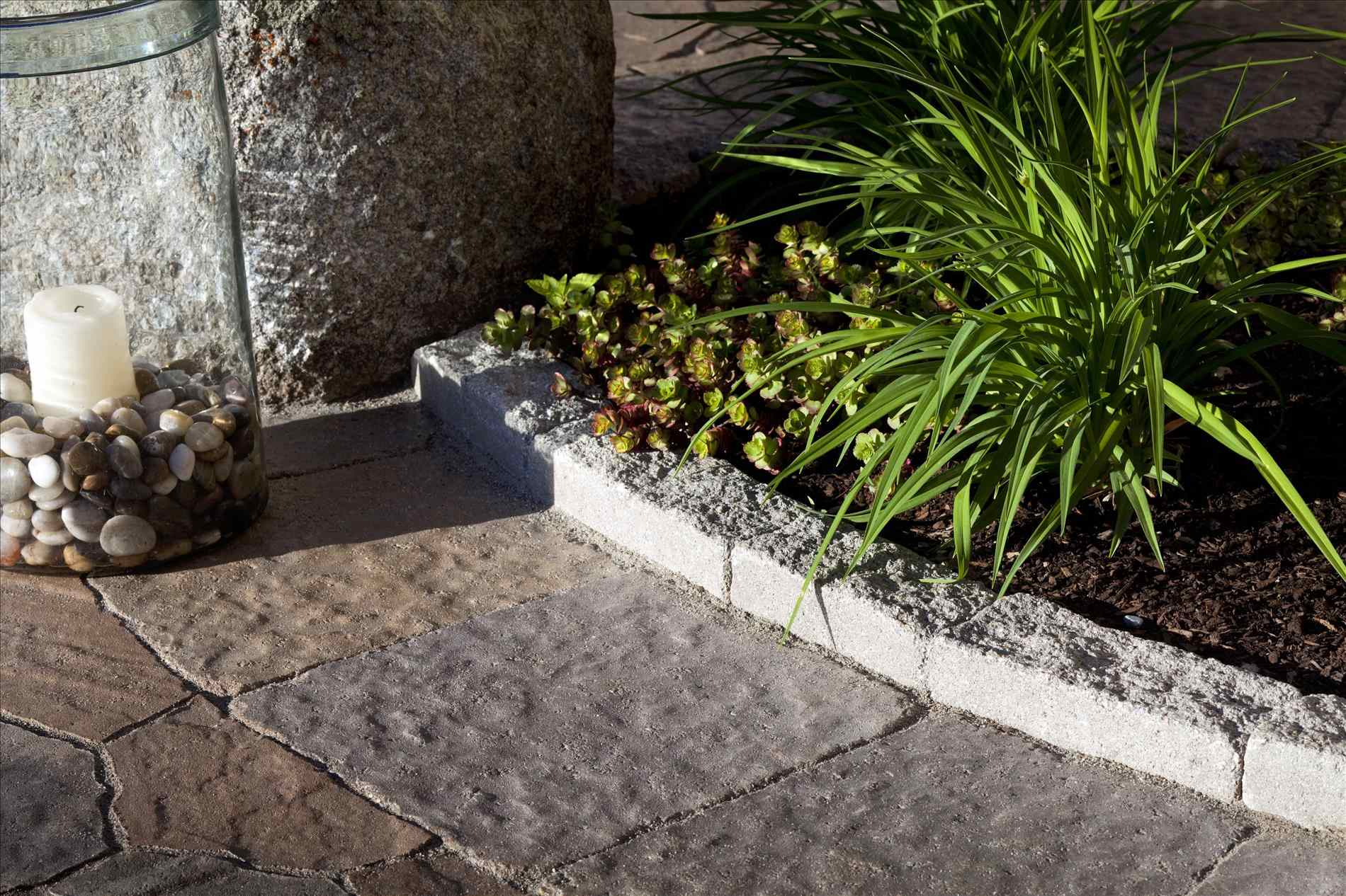 Garden Edger | Home Depot Landscape Edging | Cobblestone Edging