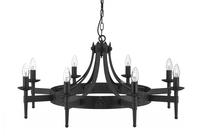 Great Wrought Iron Outside Lights | Enchanting Gothic Chandelier