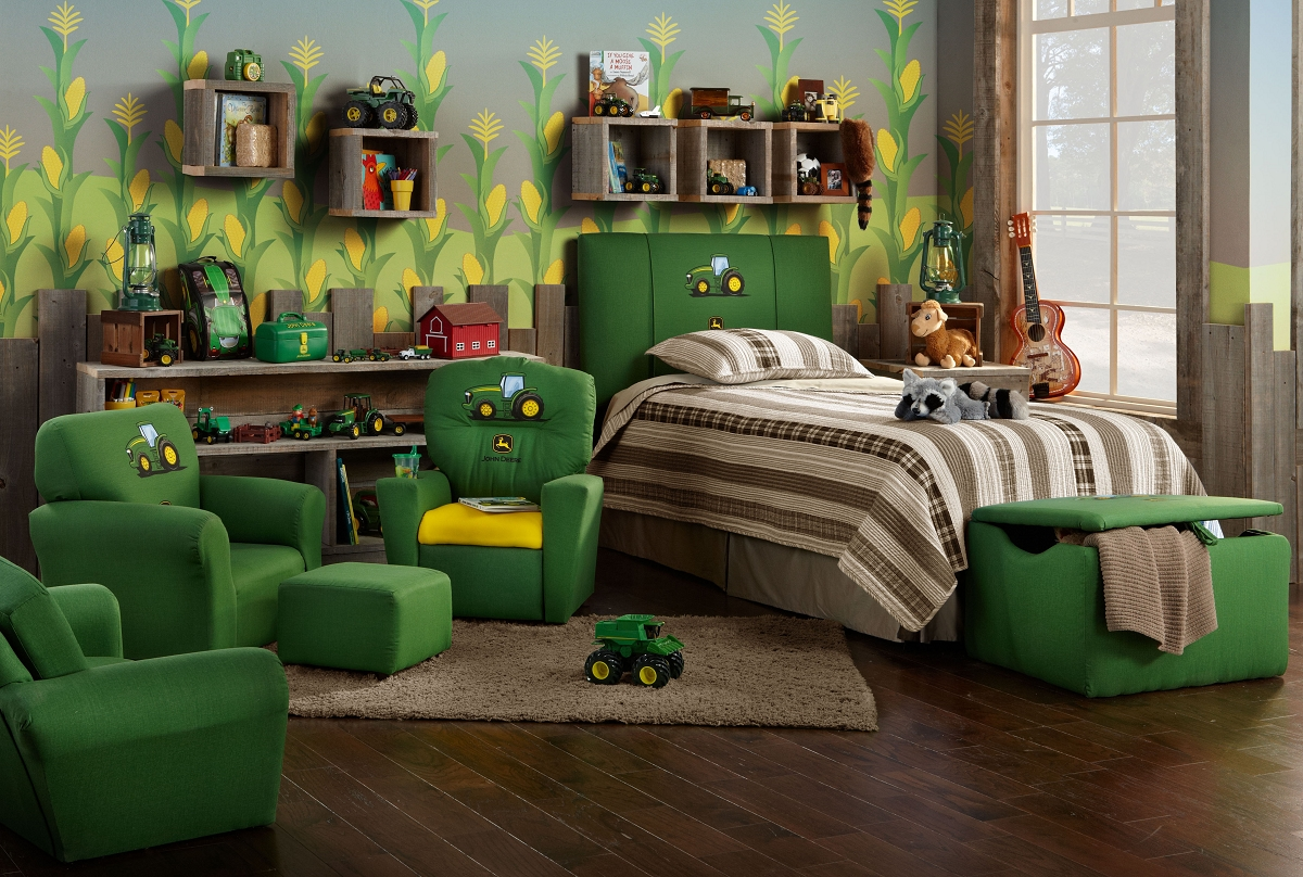 John Deere Bedroom Ideas | John Deere Tractor Bunk Bed Plans | John Deere Bedding