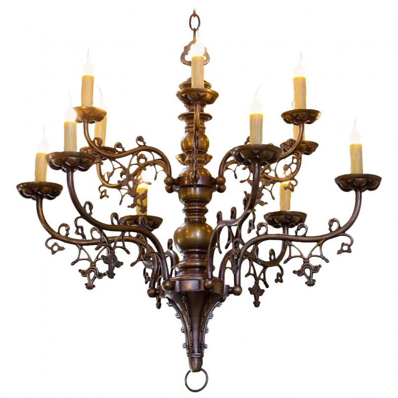 Lovable Wrought Iron Exterior Lighting Designs | Cute Gothic Chandelier